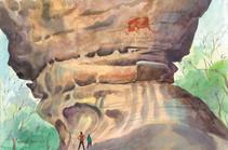 8 Rock Painting - Bhimbetka-        MP.j