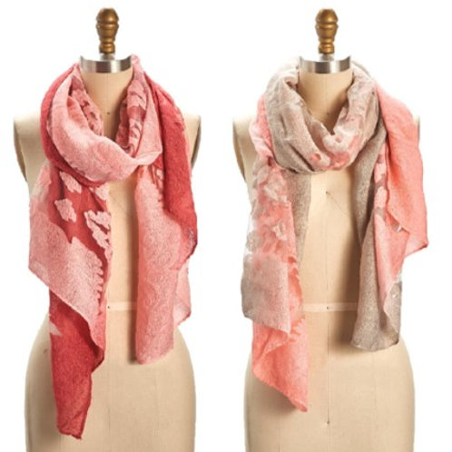 Ombre Flower Scarf/Shawl