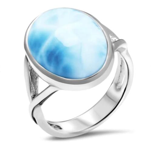 Oval Larimar Ring