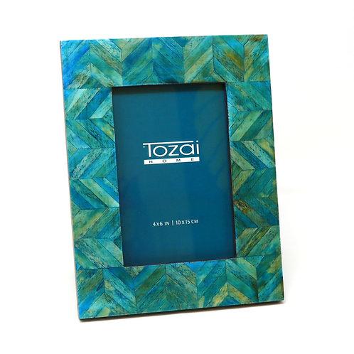 Tazai Home - Teal Bone Photo Frame 4 x 6 (Herringbone Design)