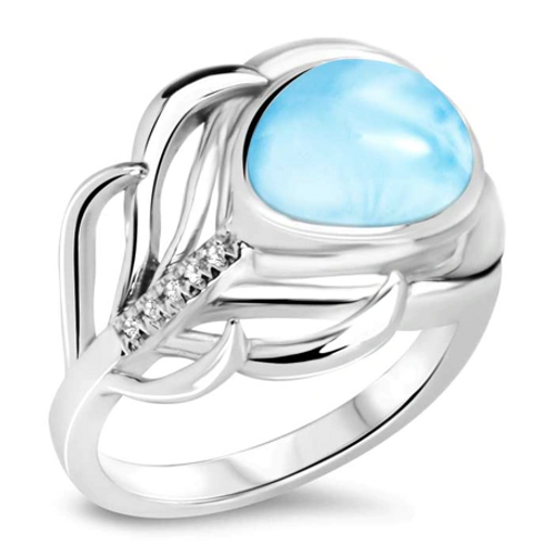 Willow Larimar Ring