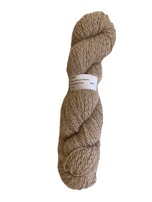Alpaca 100% 2-Ply Worsted -Natural Fawn Tweed