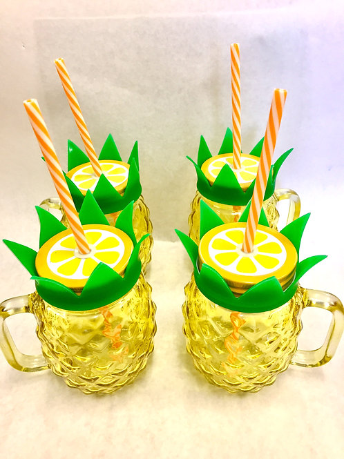 Pineapple Mason Jar Cups