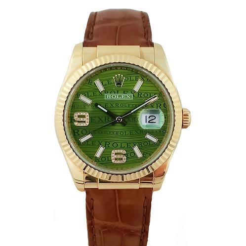 Rolex Day-Date GreenWave Mens Watch