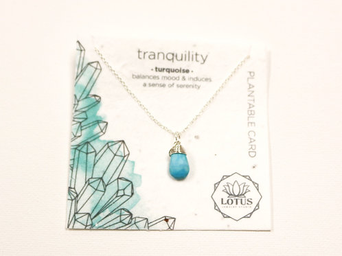 Healing Stone Necklace - Tranquility (Turquoise)