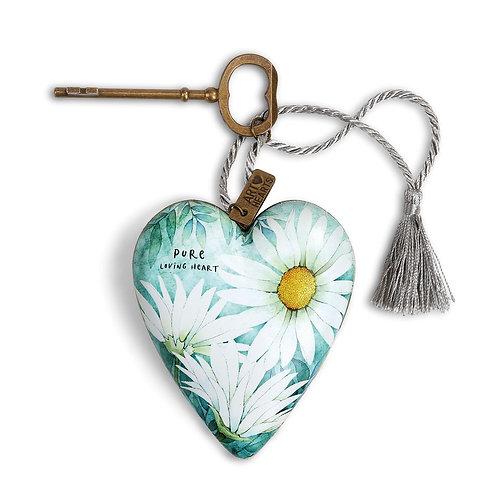 Art Heart - April, Daisy Birth Flower