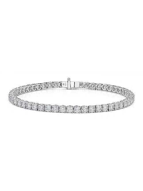 Diamond Tennis Bracelet in 18k White Gold (5.03 cttw)