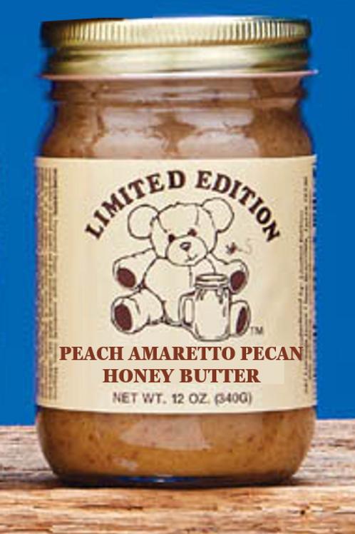 Honey Butter - Peach Amaretto Pecan 12 oz jar