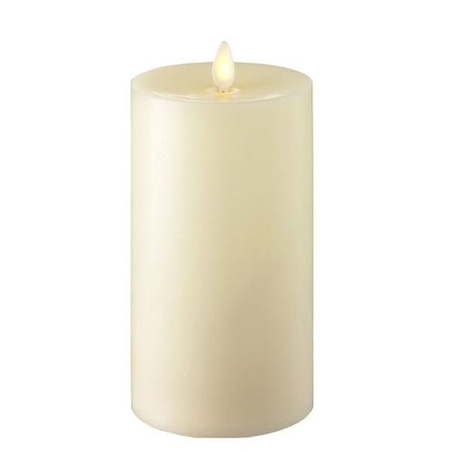 "Moving Flame LED 7"" Candle - Frosted Ivory"