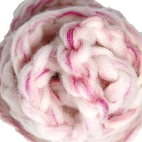 Blended Roving - Alpaca Roses