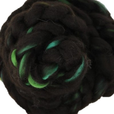 Blended Roving - Alpaca Spring Black