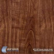 WTP-207 Brown Wood Grain