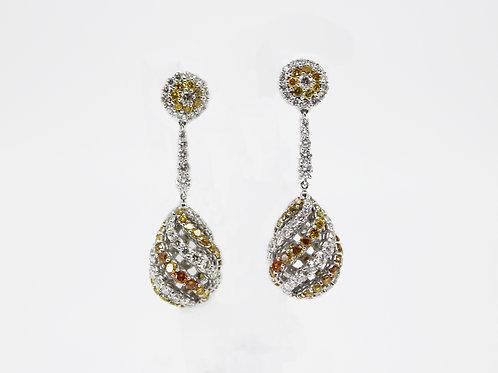 High Fashion Gold Diamond Earrings