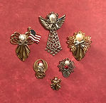Handcrafted angel pins - Angel Pins by Denise
