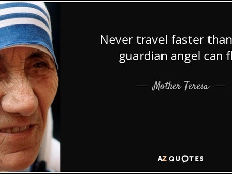 Never Travel (or Drive) Faster than Your Guardian Angel Can Fly Visor Clip