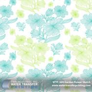 WTP-669 Garden Flower Sketch