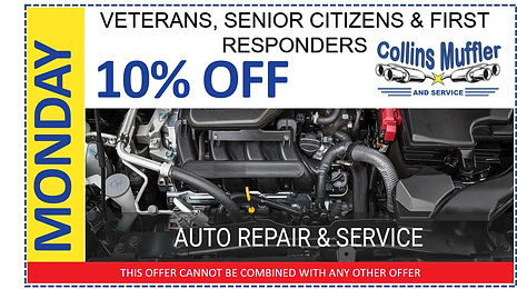 Monday special offer Collins Muffler and Service - Greeley CO
