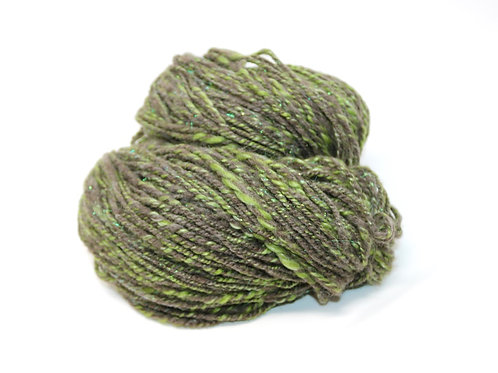 Handspun Wool Blend - Gray/Green