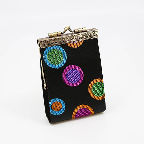 Black Polka Dots Card Holder