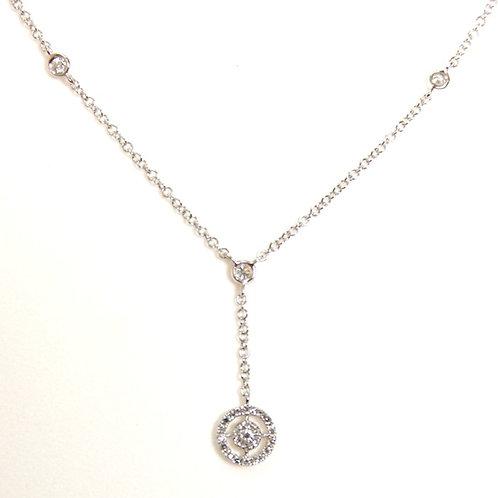 Veretti Diamond Pendant Necklace in White Gold