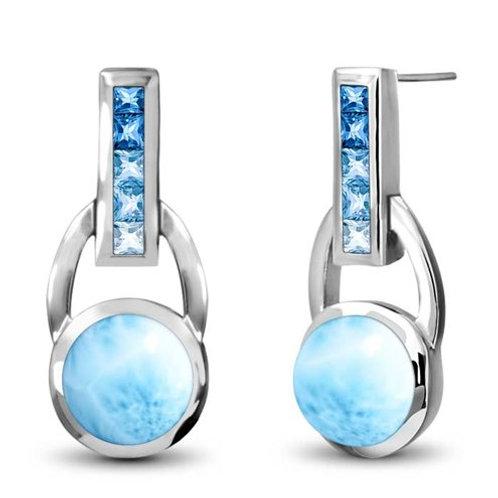 Aqua Larimar Earrings
