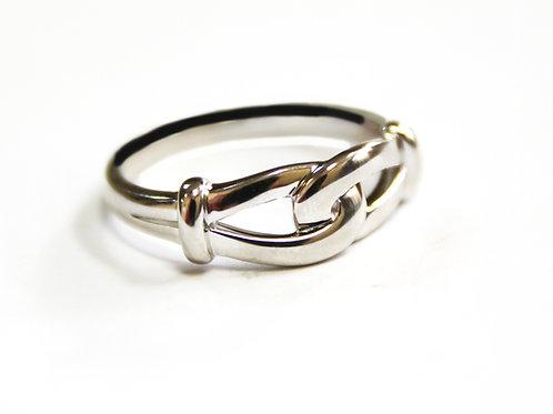 Breuning Sterling Silver Interlocking Knot Ring