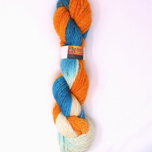 Alpaca 2-Ply Worsted  -Citric Ice