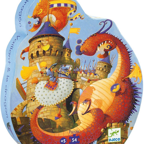 Jigsaw Puzzle - DJECO Valliant and The Dragon - 54 Pieces