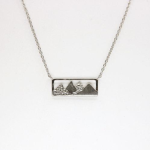 Mountain Range Silhouette Pendant