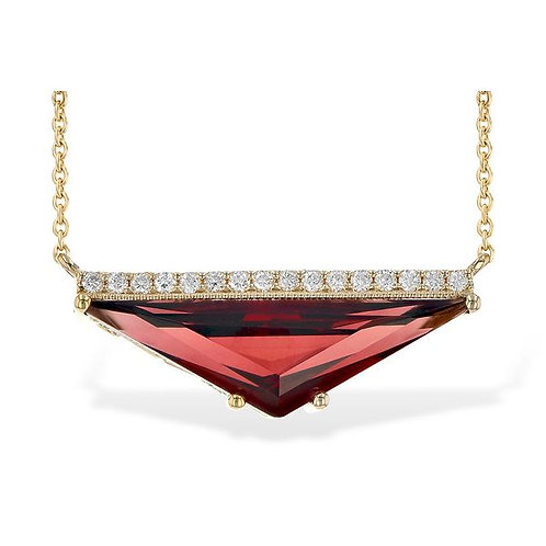 Allison Kaufman  Garnet and Diamond  Necklace