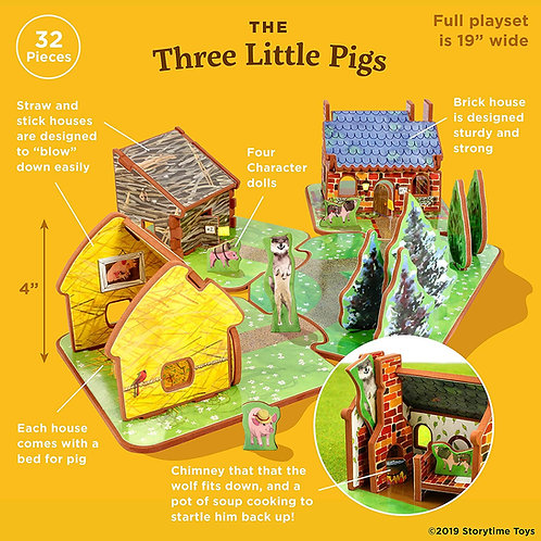 Storytime Toys - The Three Little Pigs (Play Set)