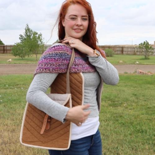Handmade Alpaca Vest and Matching Bag (fawn)