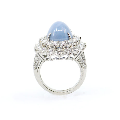 Vintage Cartier Sapphire and Diamond Ring