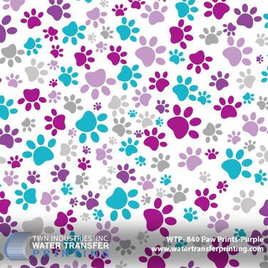 WTP-840 Paw Prints Purple