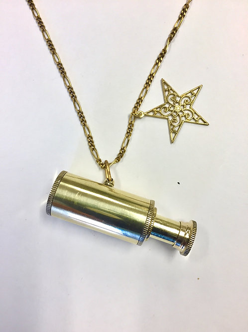 Necklace - Brass Telescope
