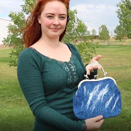 Handbag - Alpaca Afghan Dog (blue)
