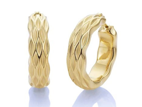 Yellow Gold Plated Sterling Silver Earrings