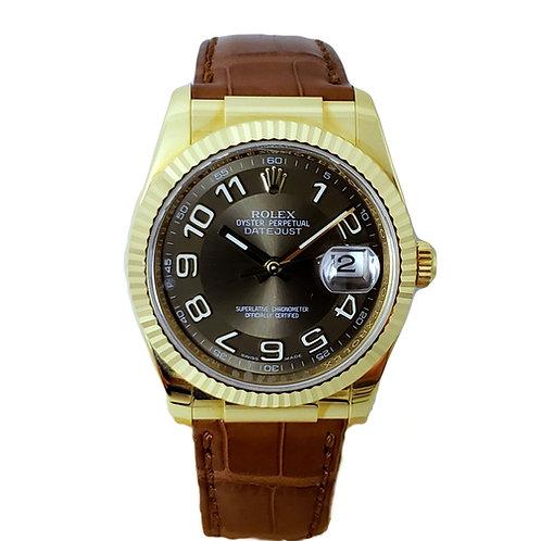 Rolex Day-Date Brown Arabic Mens Watch