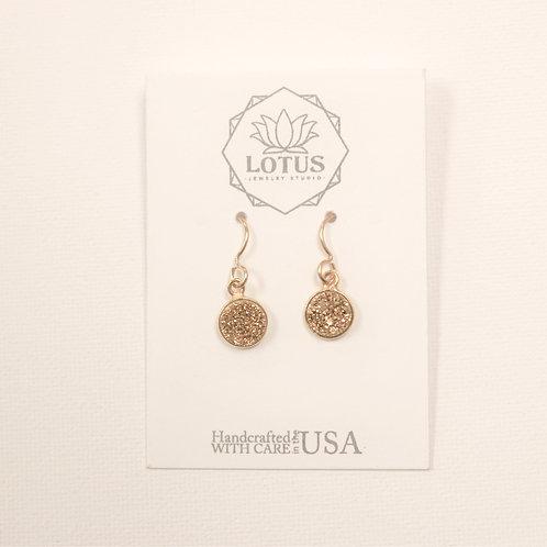 Luster Druzy Gold Earrings