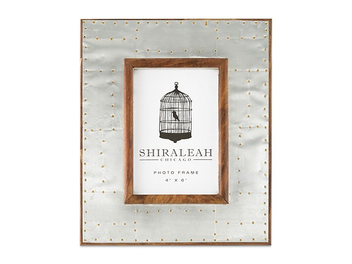Shiraleah Riveted 4'' x 6'' Picture Frame