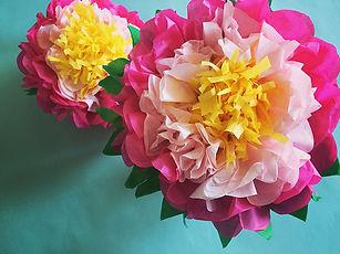 Tisssue Paper Flower Making for Kids