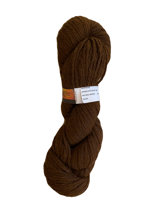 Alpaca 4-Ply Bulky Yarn - Natural Brown