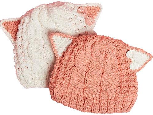 Cable Knit Cat Hat