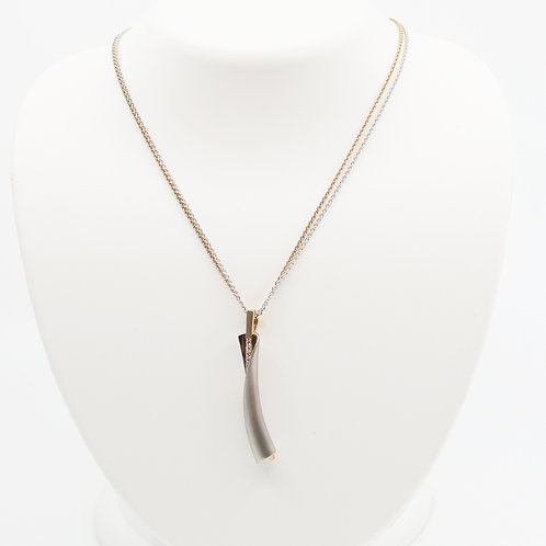 Rose Gold Plated Sterling Silver Sapphire Necklace