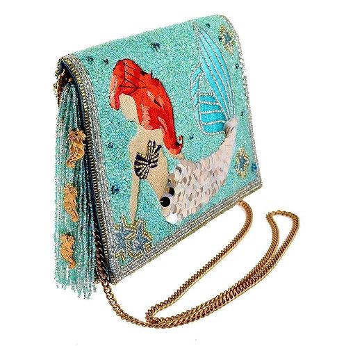 Mary Frances Disney Ariel The Little Mermaid Beaded Crossbody Clutch