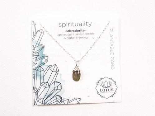 Healing Stone Necklace - Spirituality (Labradorite)