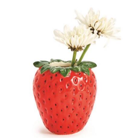 Ceramic Strawberry Bud Vase
