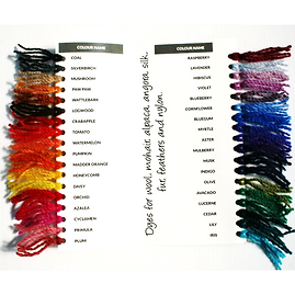 The Fleece Factory of the Rockies Original Dyes