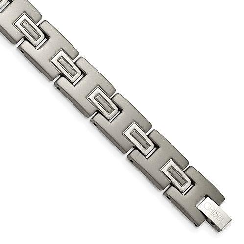 Men's Titanium Brushed and Polished 8.75in Bracelet