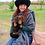 Thumbnail: Peruvian Woven Shawl (grey)